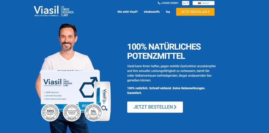 Die Viasil Homepage